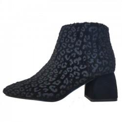 Botas leopardo negro